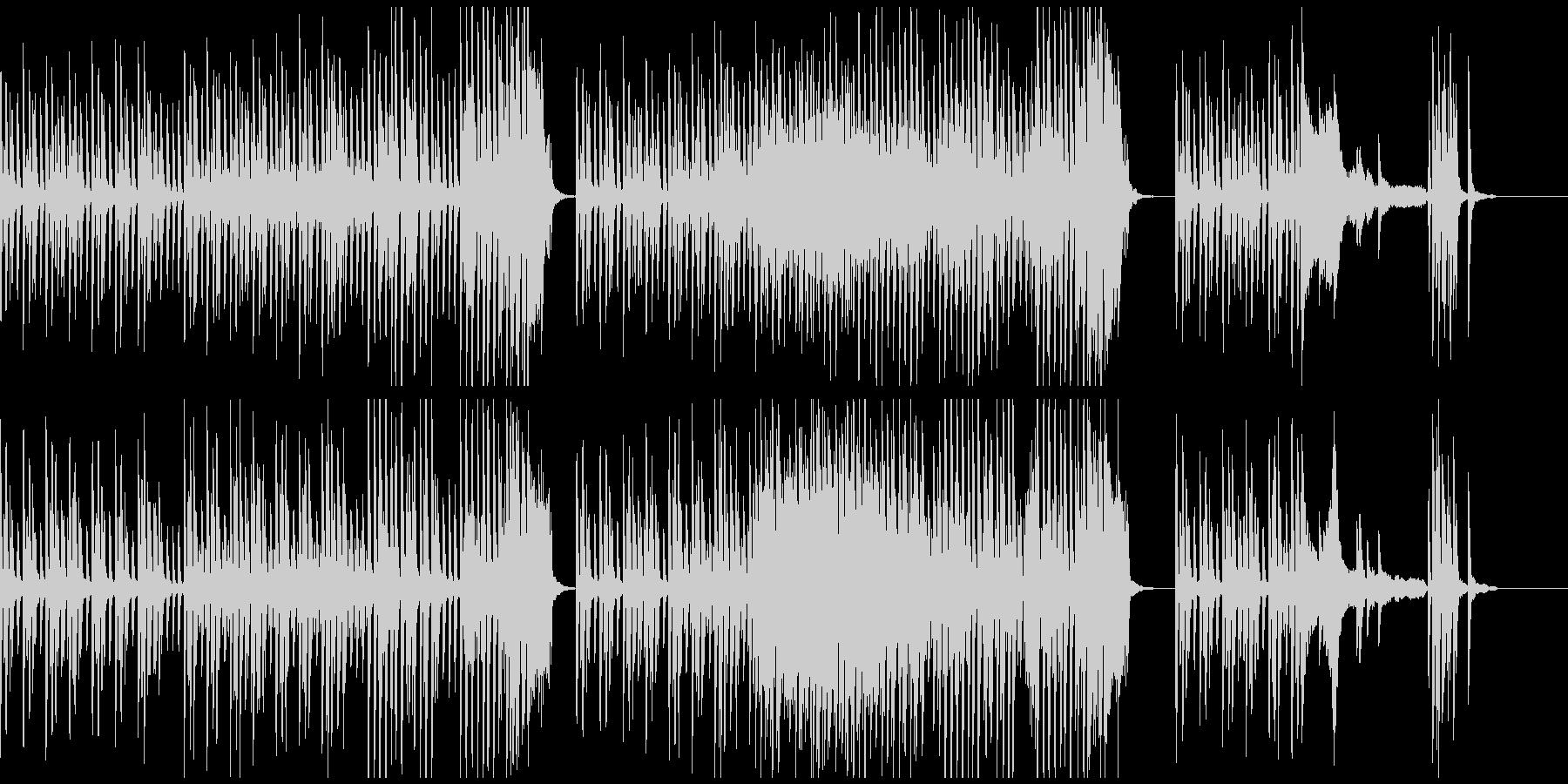 雨を連想させる跳ねたリズムのピアノソロの未再生の波形