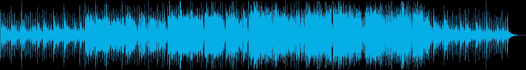 ファンタジー系の町並みのようなキラキラ曲の再生済みの波形