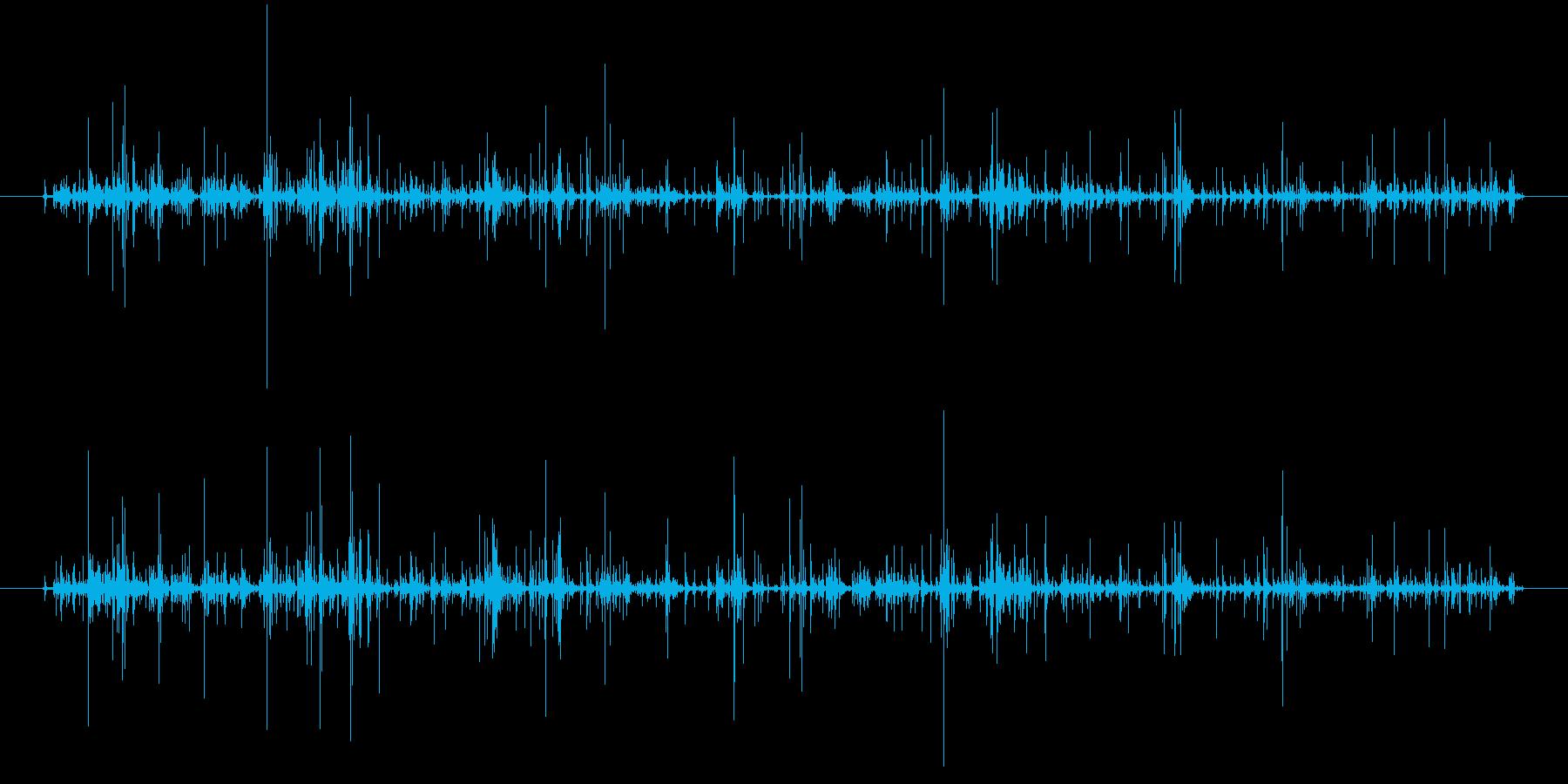 麻雀牌をまぜる音2の再生済みの波形