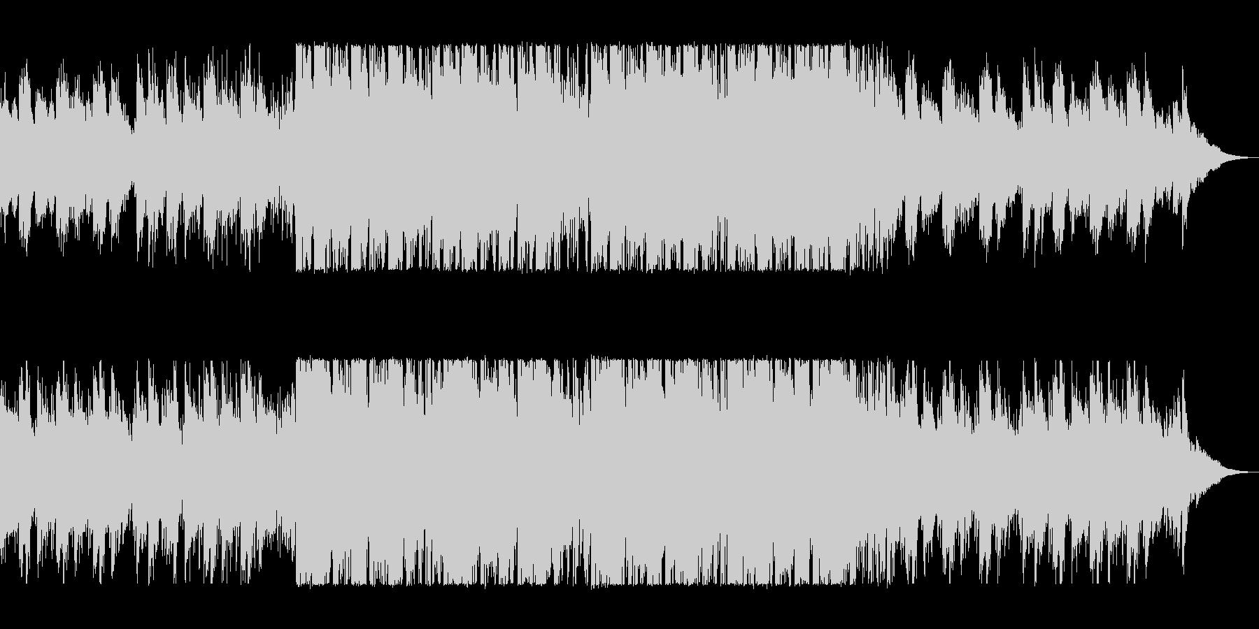 疾走感のあるテクノポップスの未再生の波形
