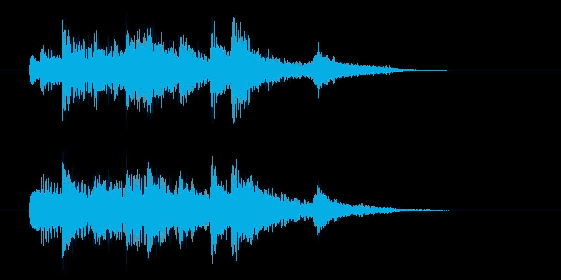 穏やかで癖のないピアノBGMの再生済みの波形