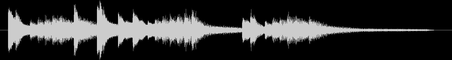 お正月・春の海モチーフのピアノジングルHの未再生の波形
