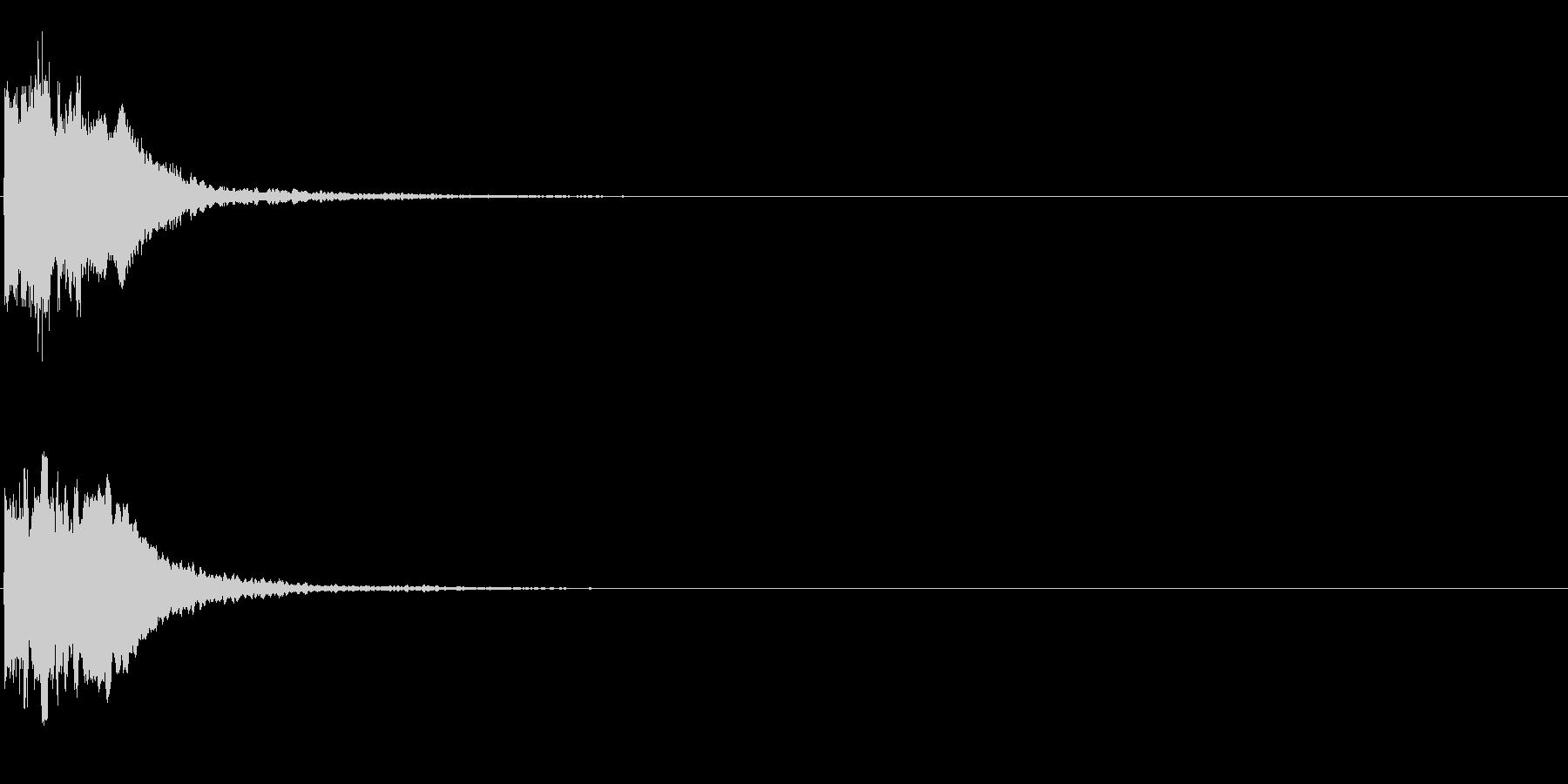 キュポーン(開始・スタート音、決定音)の未再生の波形