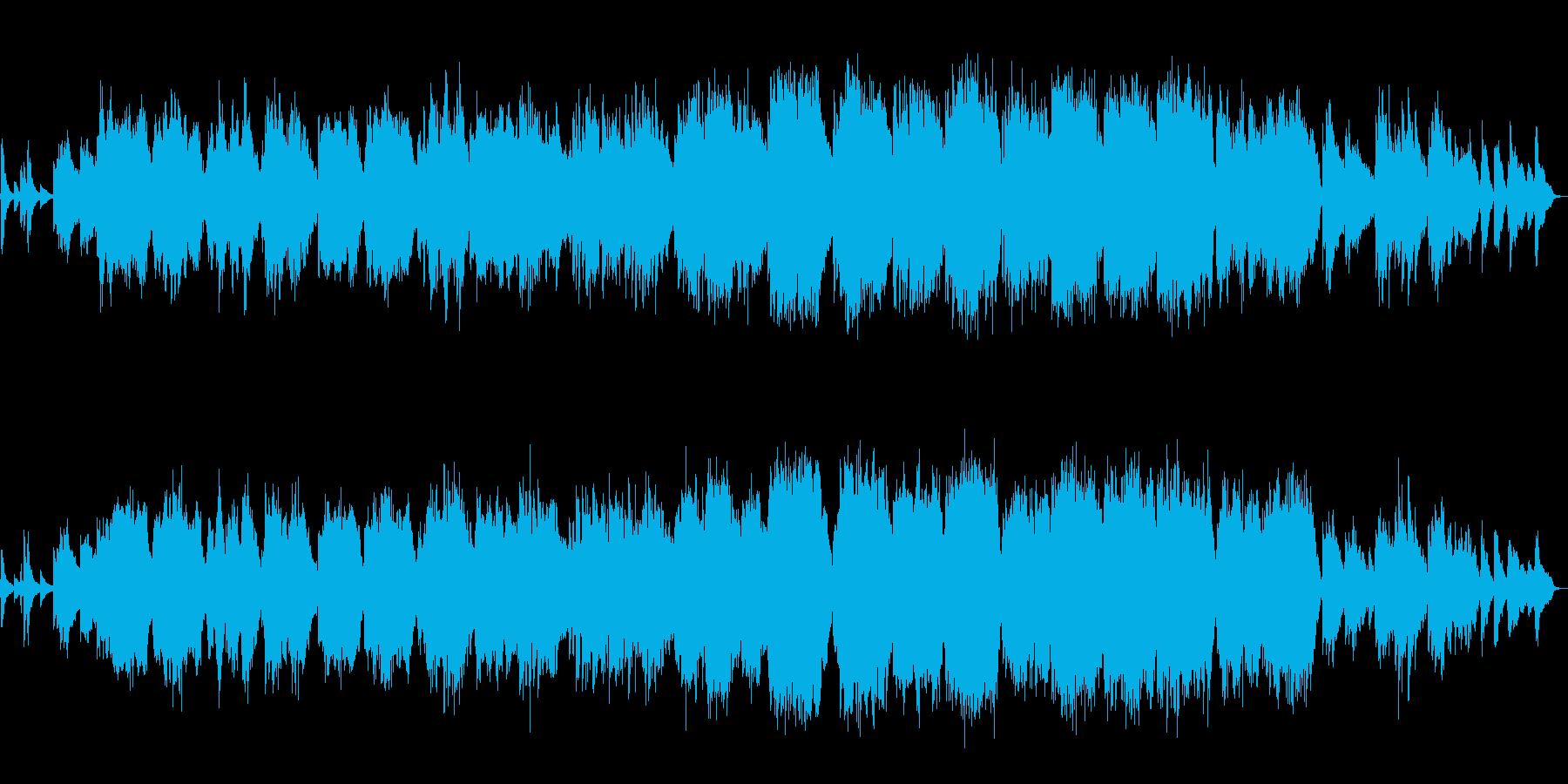 生演奏・優しく感動的なフルートのバラードの再生済みの波形