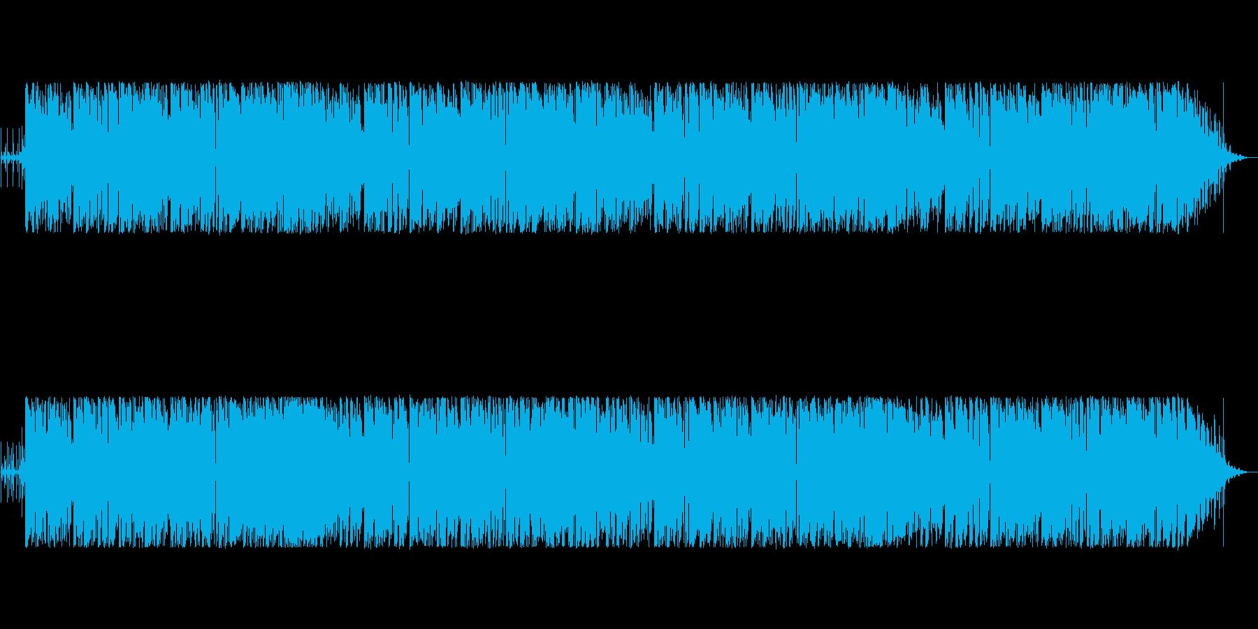 おしゃれなコードのボサノバ風ポップスの再生済みの波形