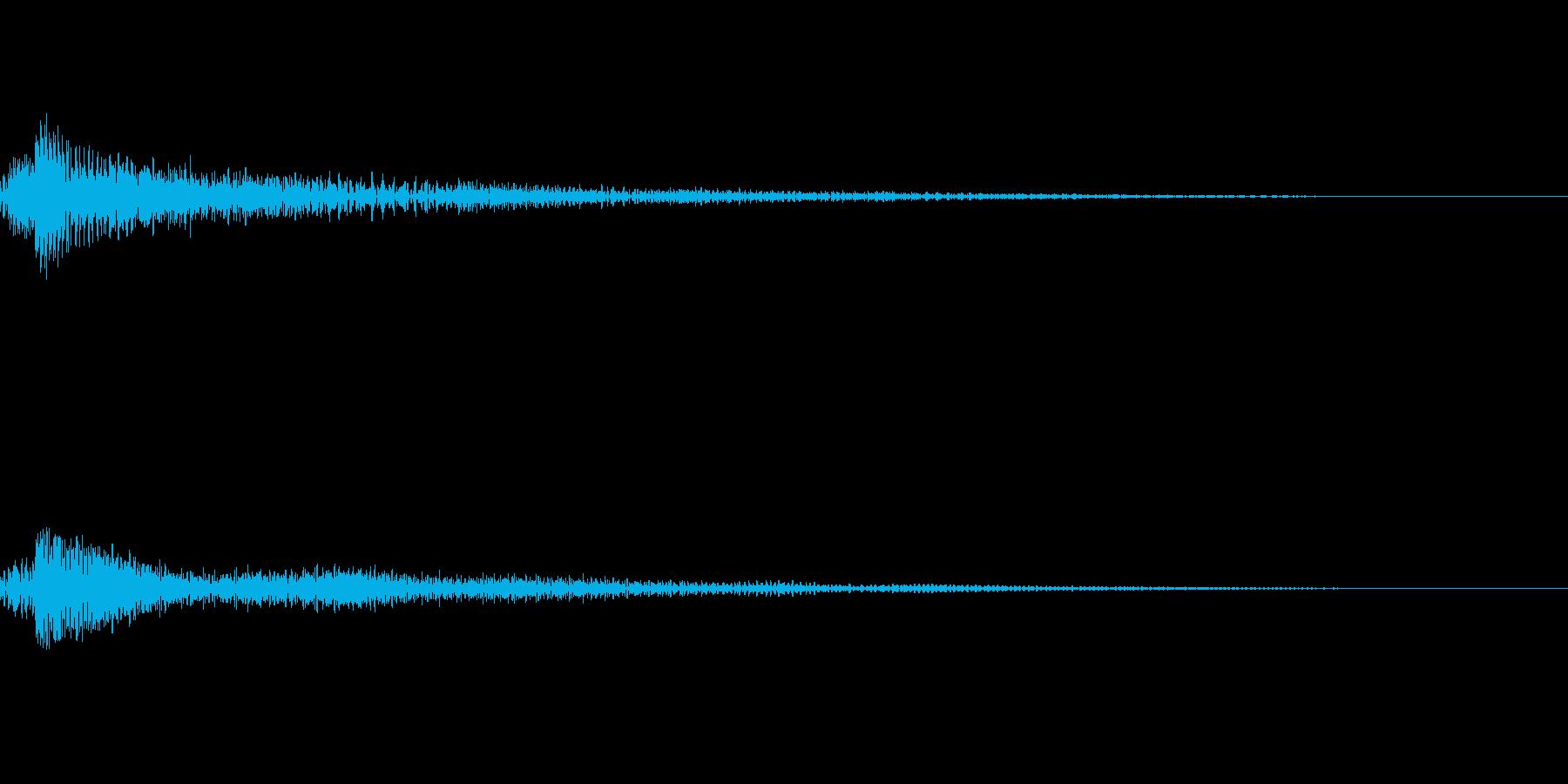 ファンタジー かわいい効果音 決定系13の再生済みの波形