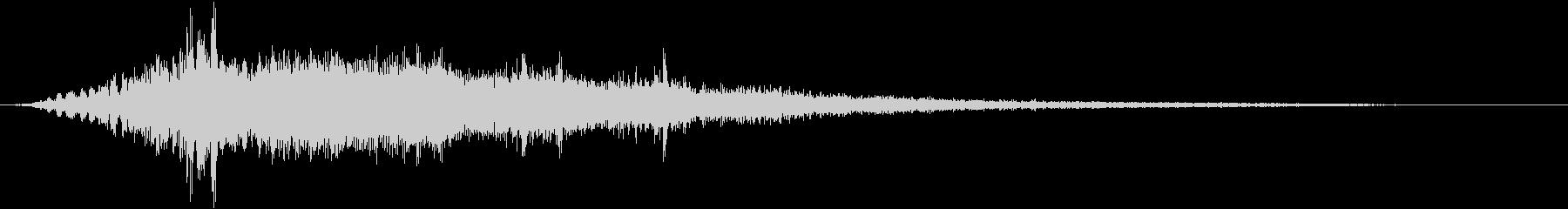 ゲーム演出_電子音(アニメーション)の未再生の波形