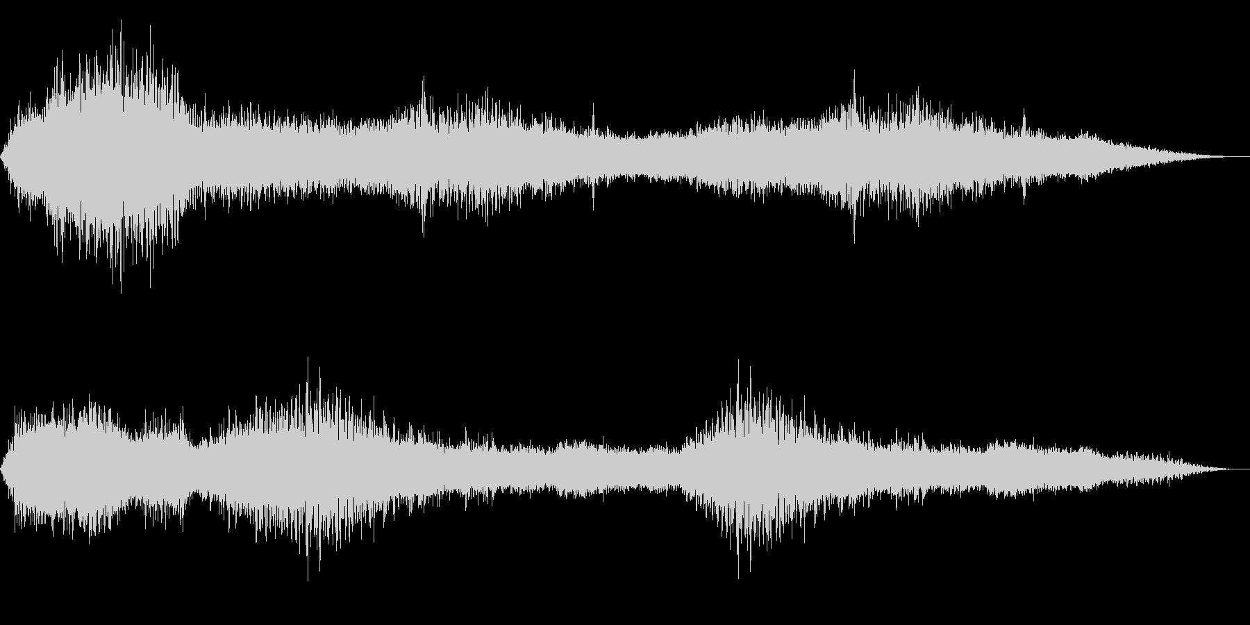 ホラー映画に出てきそうなノイズ系音源13の未再生の波形