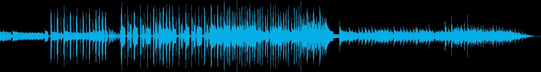 ベースラインが特徴的な明るいポップスの再生済みの波形
