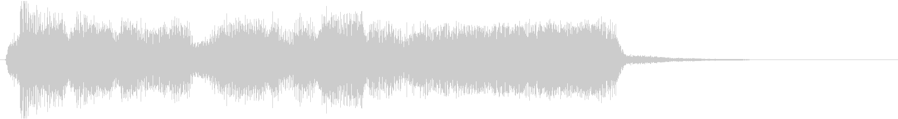 ハロウィン風ギタージングル2の未再生の波形