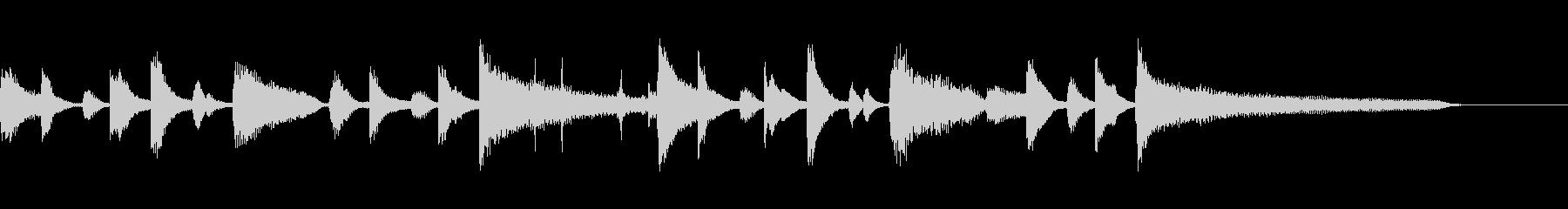 ★クラシカルで知的な可愛いジングルの未再生の波形