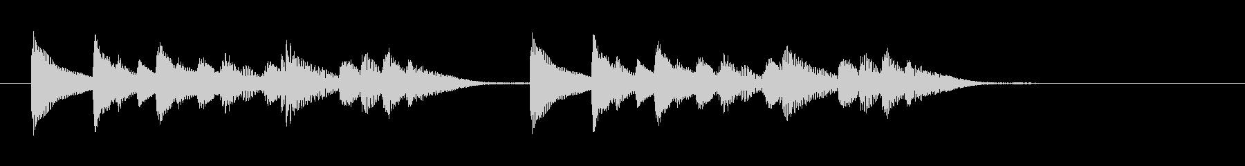 着信音のようなバンブー木琴のジングルの未再生の波形