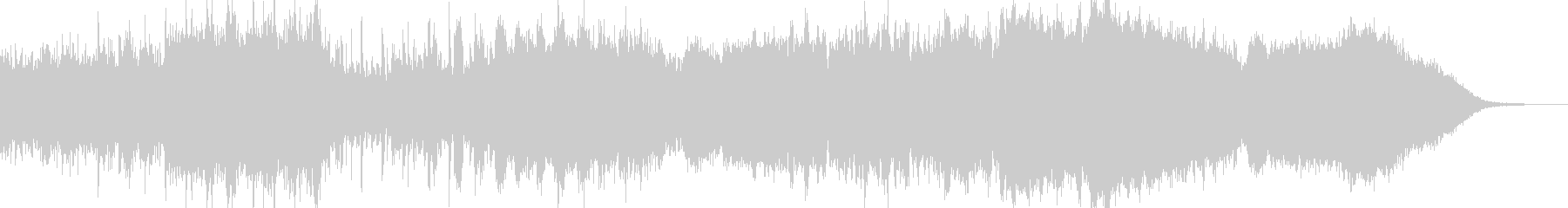 インダストリアルなダークシンセ音の未再生の波形