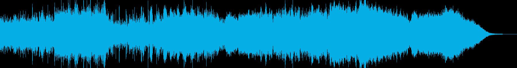 インダストリアルなダークシンセ音の再生済みの波形