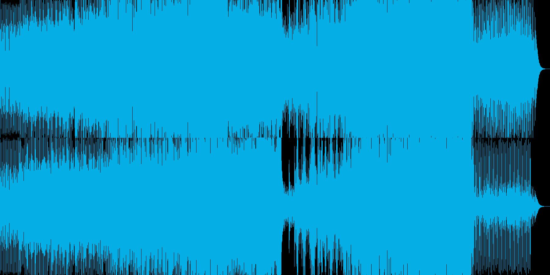 アコギが効いている爽やかダンスBGMの再生済みの波形