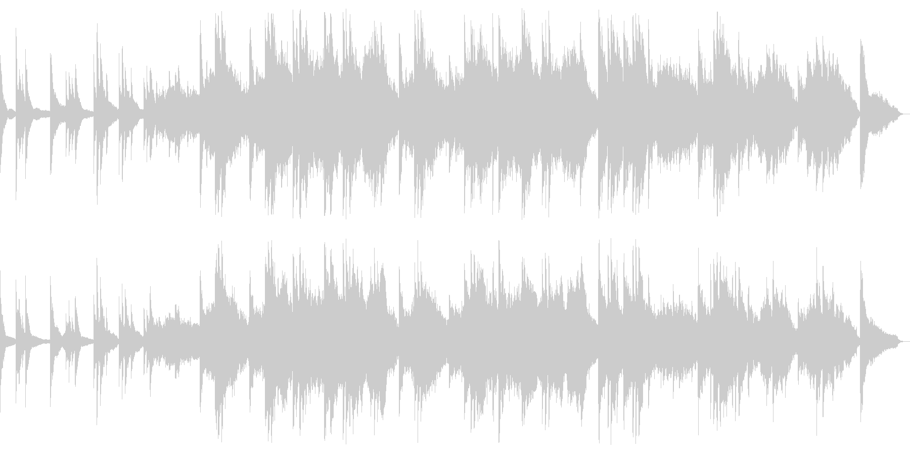 邪魔せず静かに彩るピアノインストバラードの未再生の波形