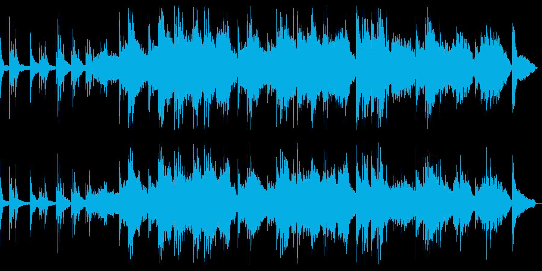 邪魔せず静かに彩るピアノインストバラードの再生済みの波形