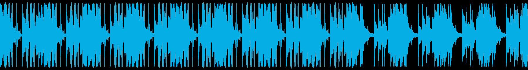 かっこいいテクノBGMの再生済みの波形