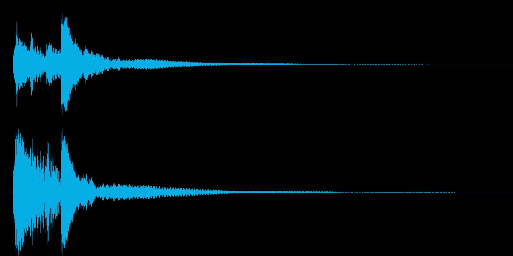 【ピアノ効果音】気がつく、思い出した瞬間の再生済みの波形
