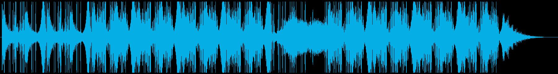優しく寂しいピアノ小品のダブ系リミックスの再生済みの波形