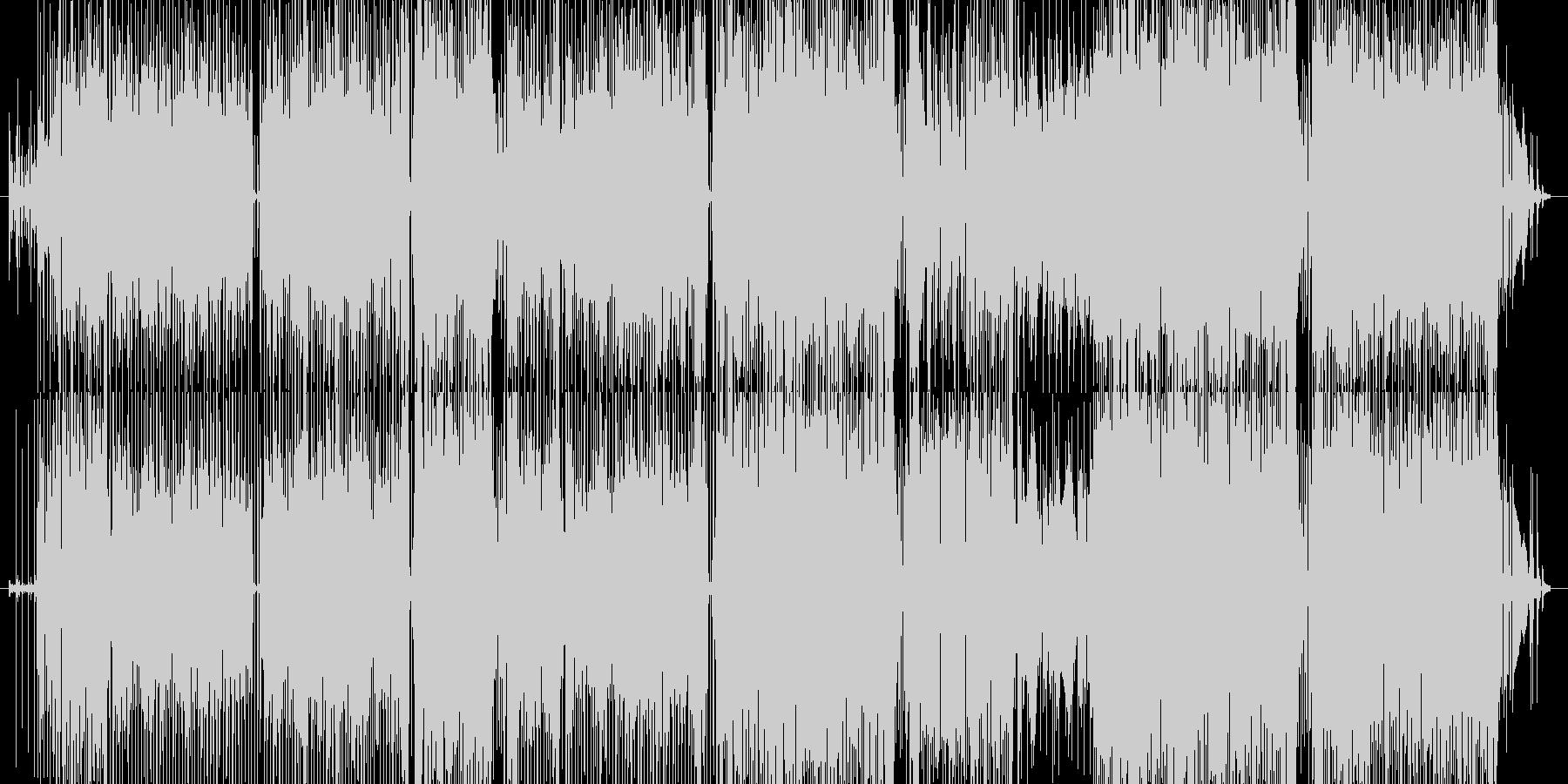 オシャレなギターサウンドによるファンクの未再生の波形