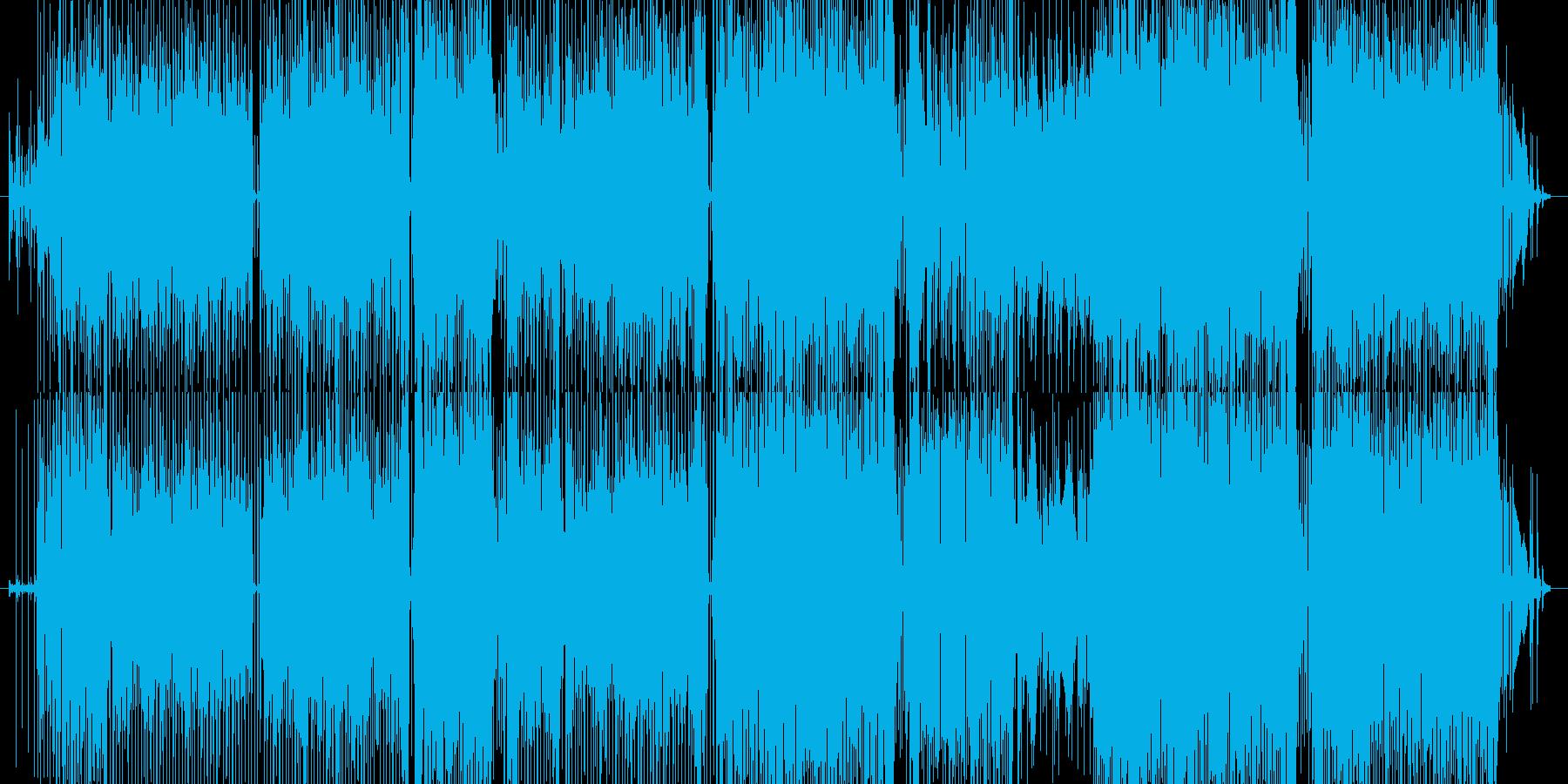 オシャレなギターサウンドによるファンクの再生済みの波形