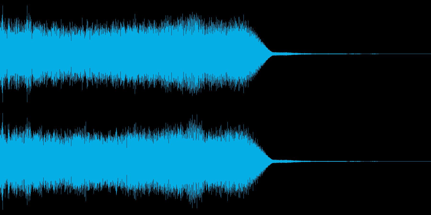 ロック・メタル系 ギターの速弾きフレーズの再生済みの波形