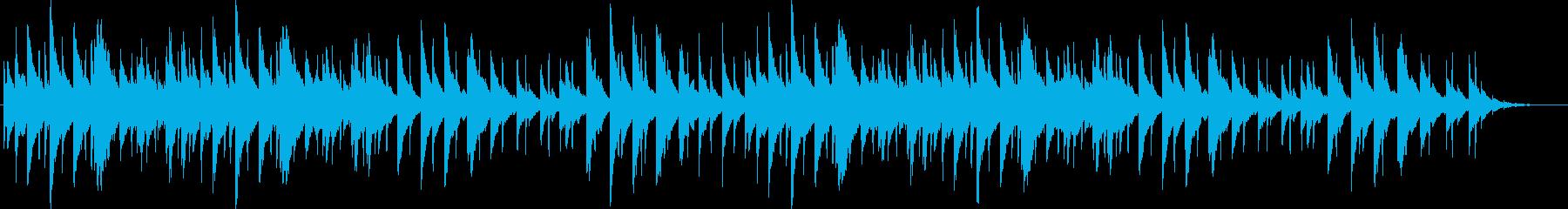 メロディアスでノスタルジーな音色の曲の再生済みの波形