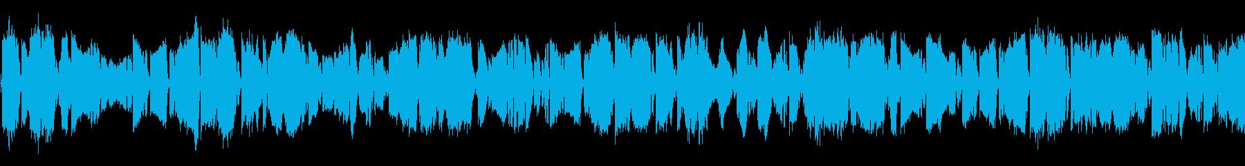派手にバチバチする電撃・スパーク音ループの再生済みの波形