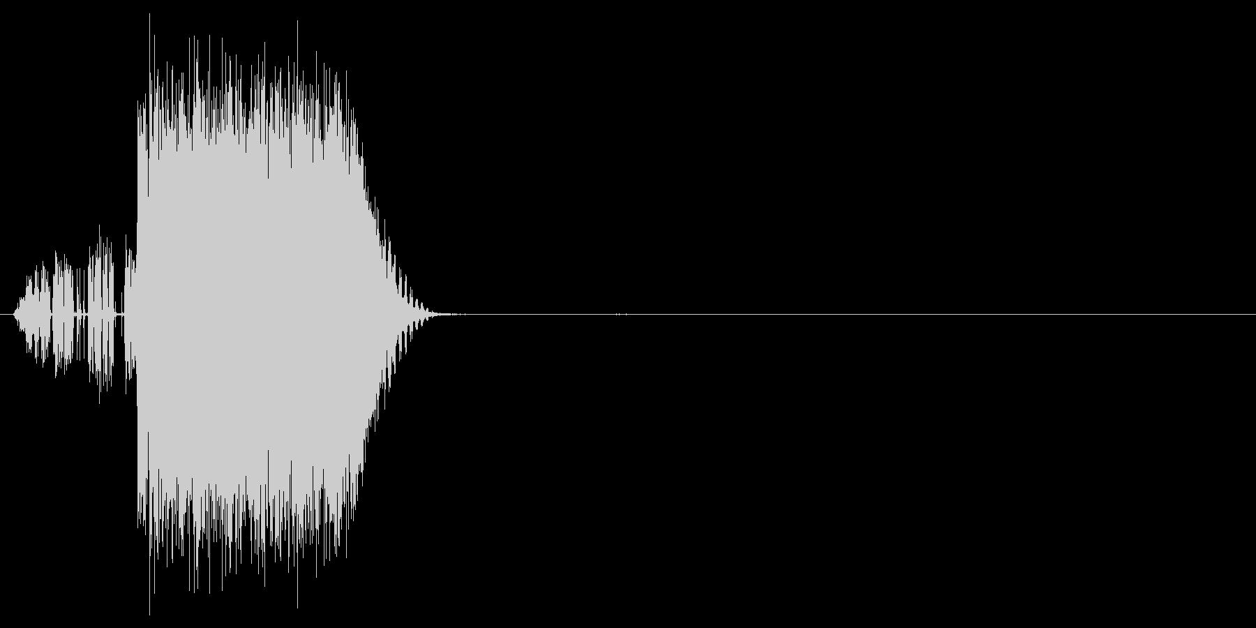バリバリっ(雷、電撃、魔法)の未再生の波形