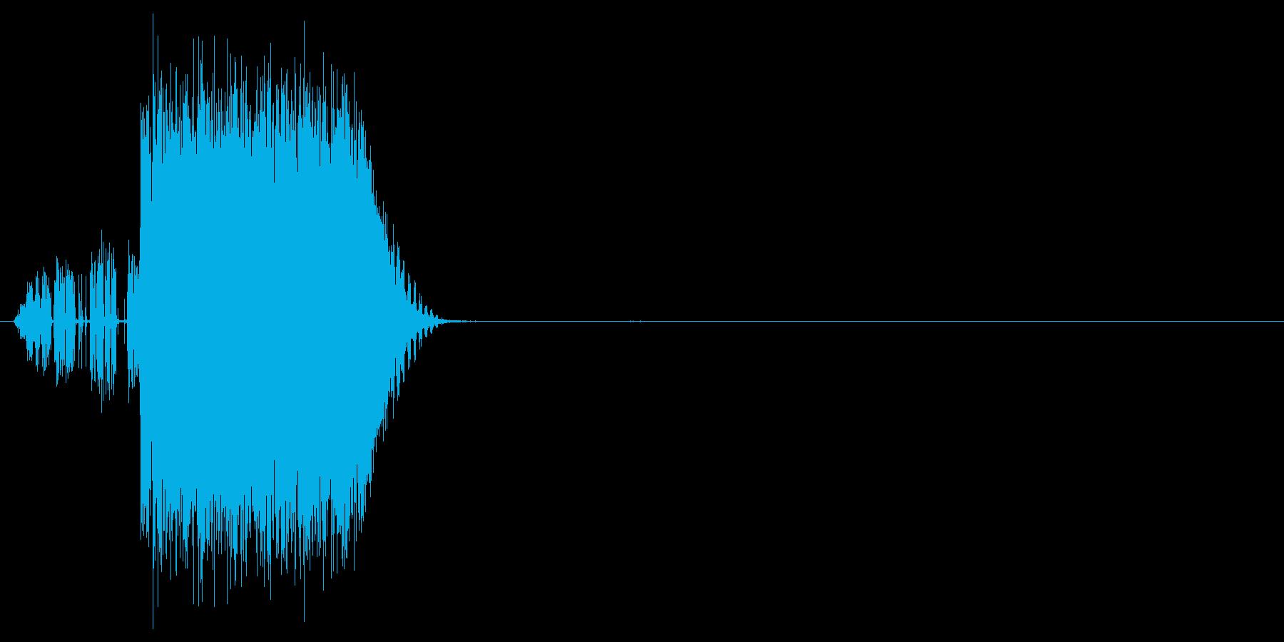 バリバリっ(雷、電撃、魔法)の再生済みの波形