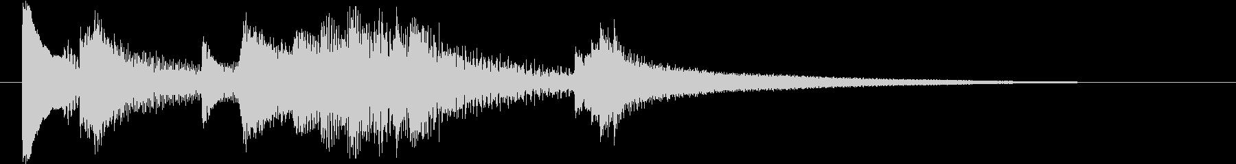 ジャズピアノ風サウンドロゴ の未再生の波形