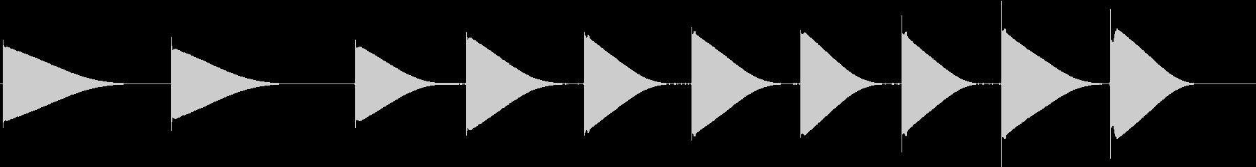トーンベル合成の未再生の波形