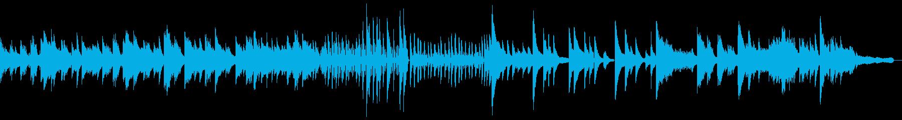 しっとりとした雰囲気のシンプルなピアノ曲の再生済みの波形