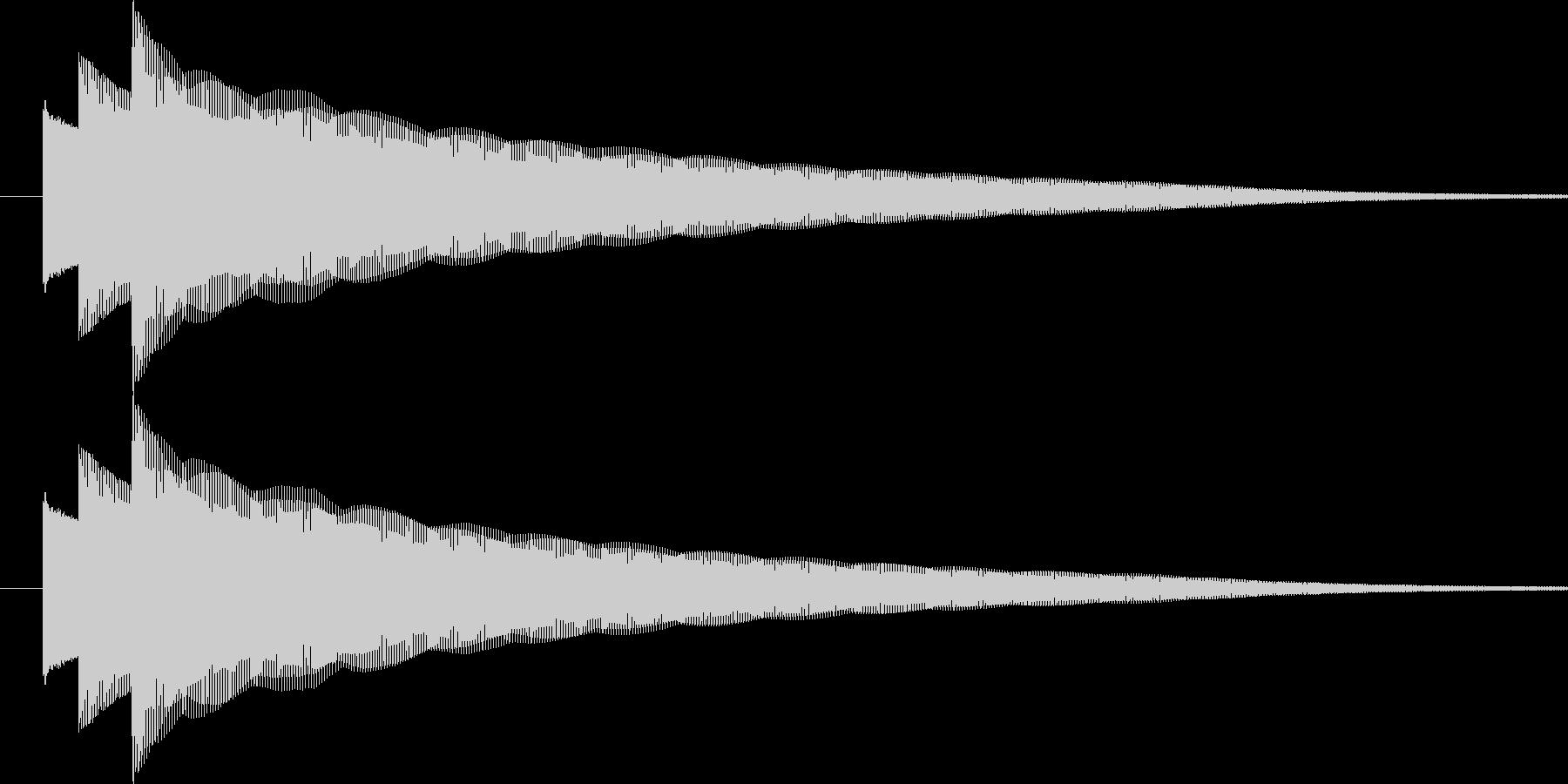 ぴろりーん(通知音)の未再生の波形