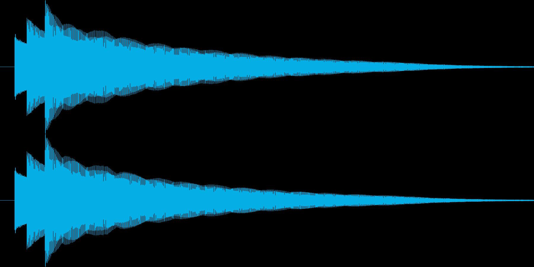 ぴろりーん(通知音)の再生済みの波形