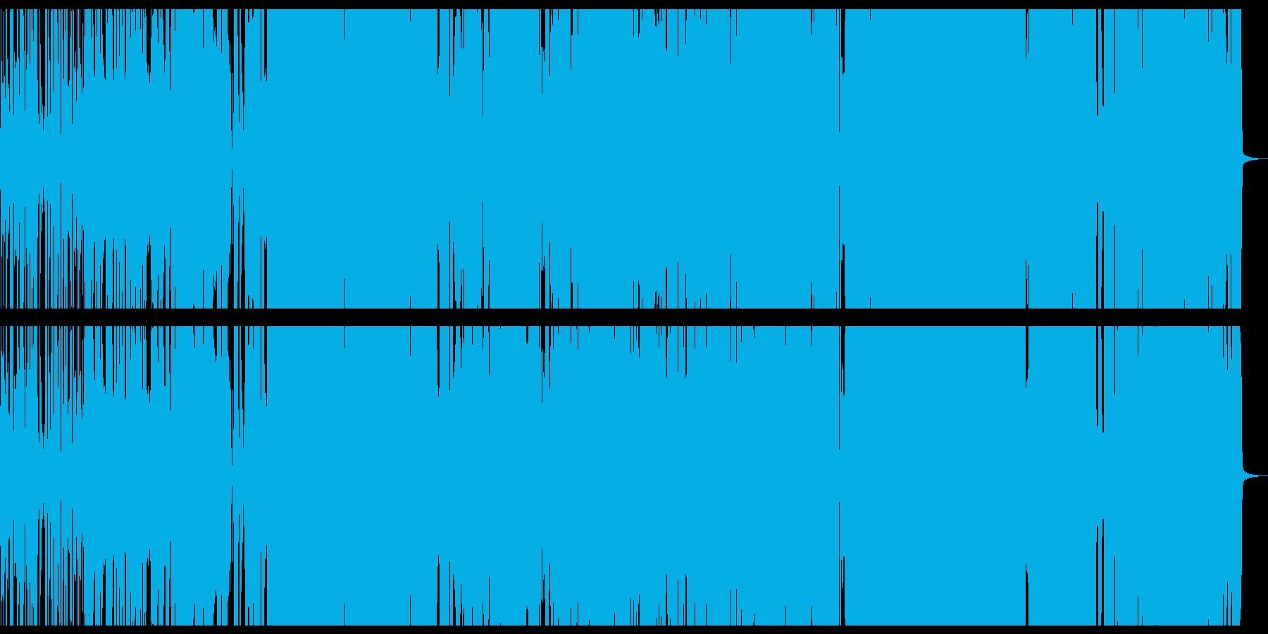 アニソン系のかわいいロックポップチューンの再生済みの波形