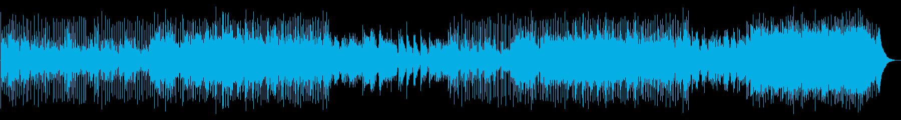 ギターとピアノが爽やかなリゾートBGMの再生済みの波形