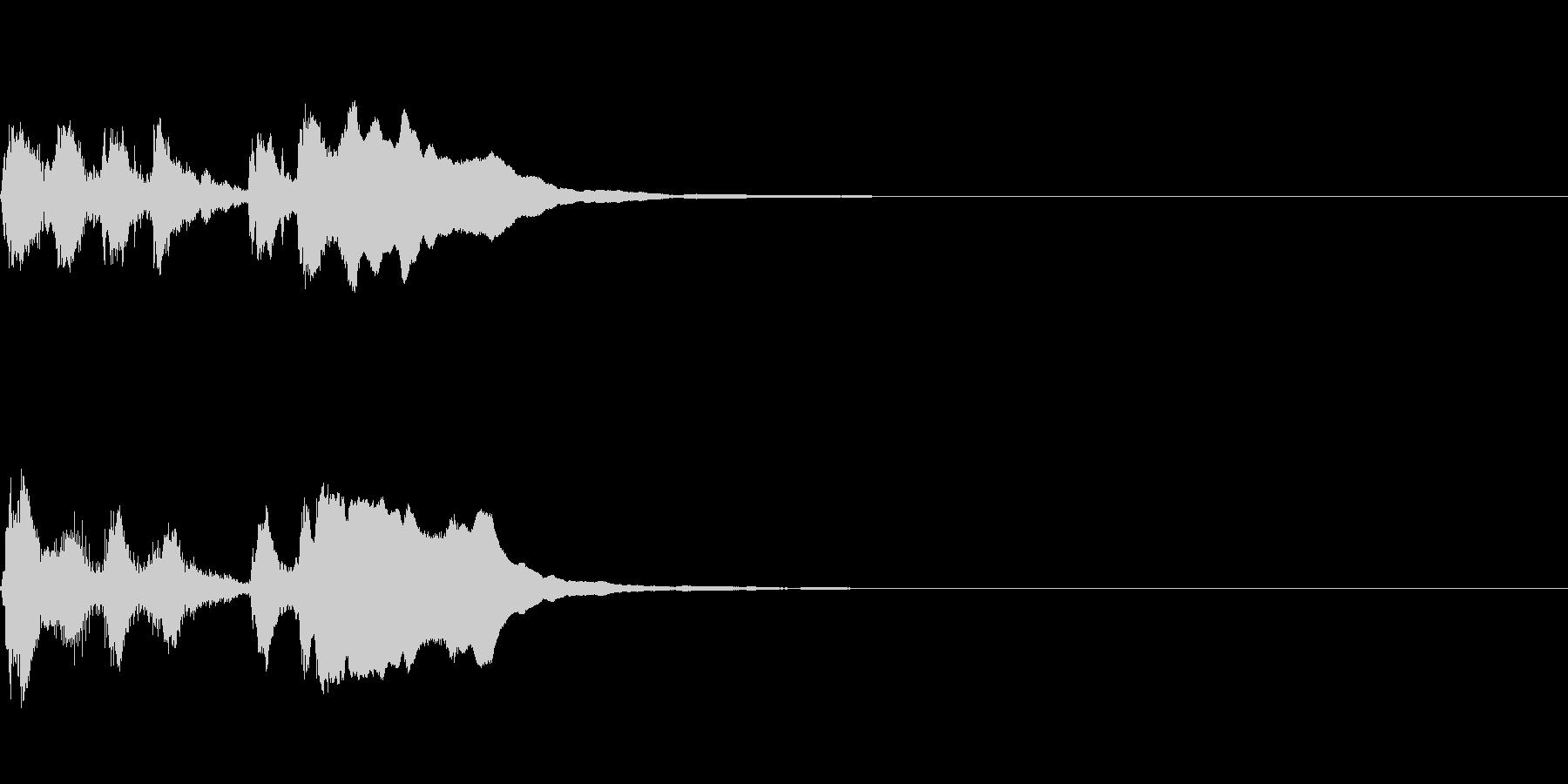 ライトでポップなファンファーレの未再生の波形