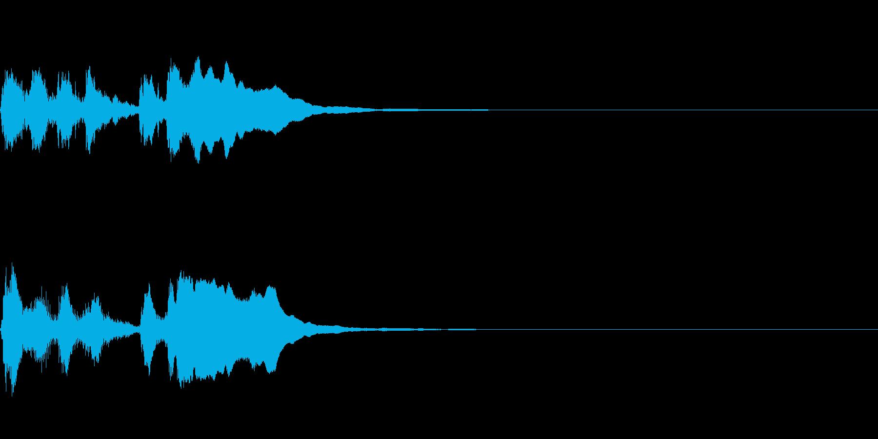 ライトでポップなファンファーレの再生済みの波形