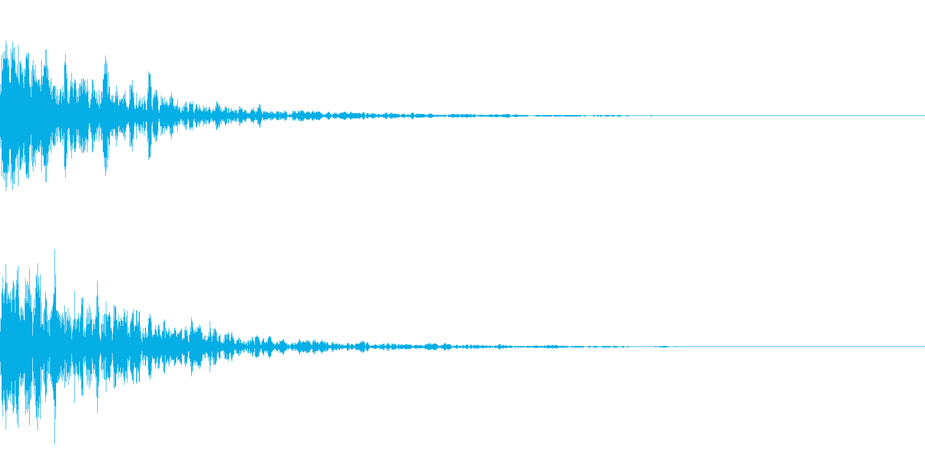 ドーン-31-1(インパクト音)の再生済みの波形