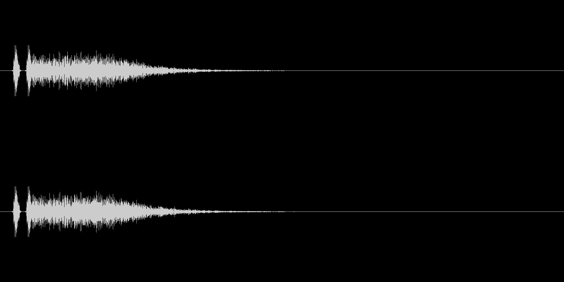 ハンドガン。銃声。の未再生の波形