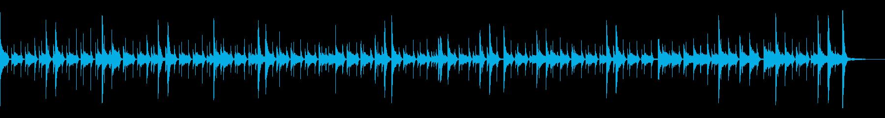 ドラム:ジャズリズム、ハイハット、...の再生済みの波形
