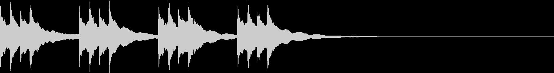 パソコンの警告音の未再生の波形