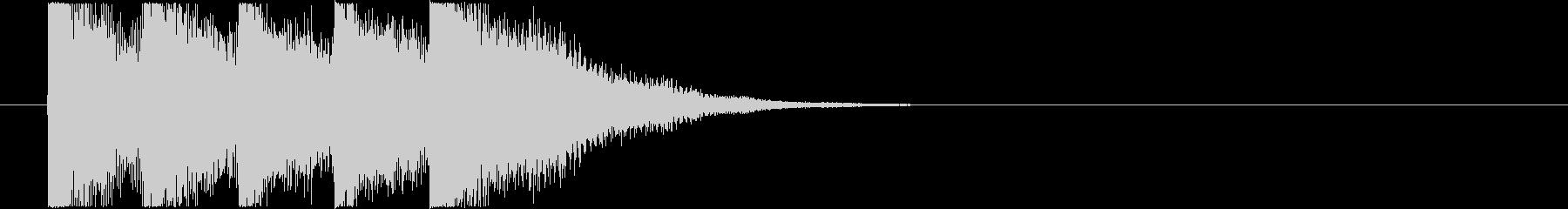 透明感のあるピアノ系サウンドロゴの未再生の波形