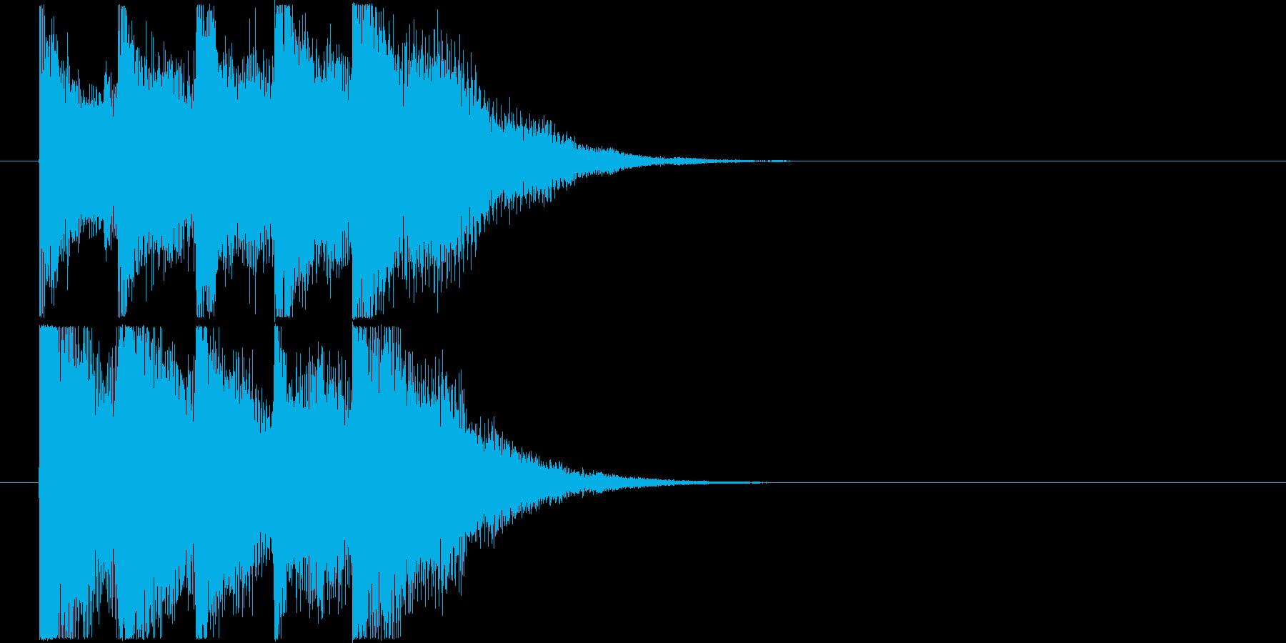透明感のあるピアノ系サウンドロゴの再生済みの波形