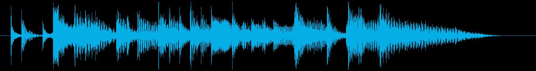 80's ニューウェイブ風ジングル2の再生済みの波形