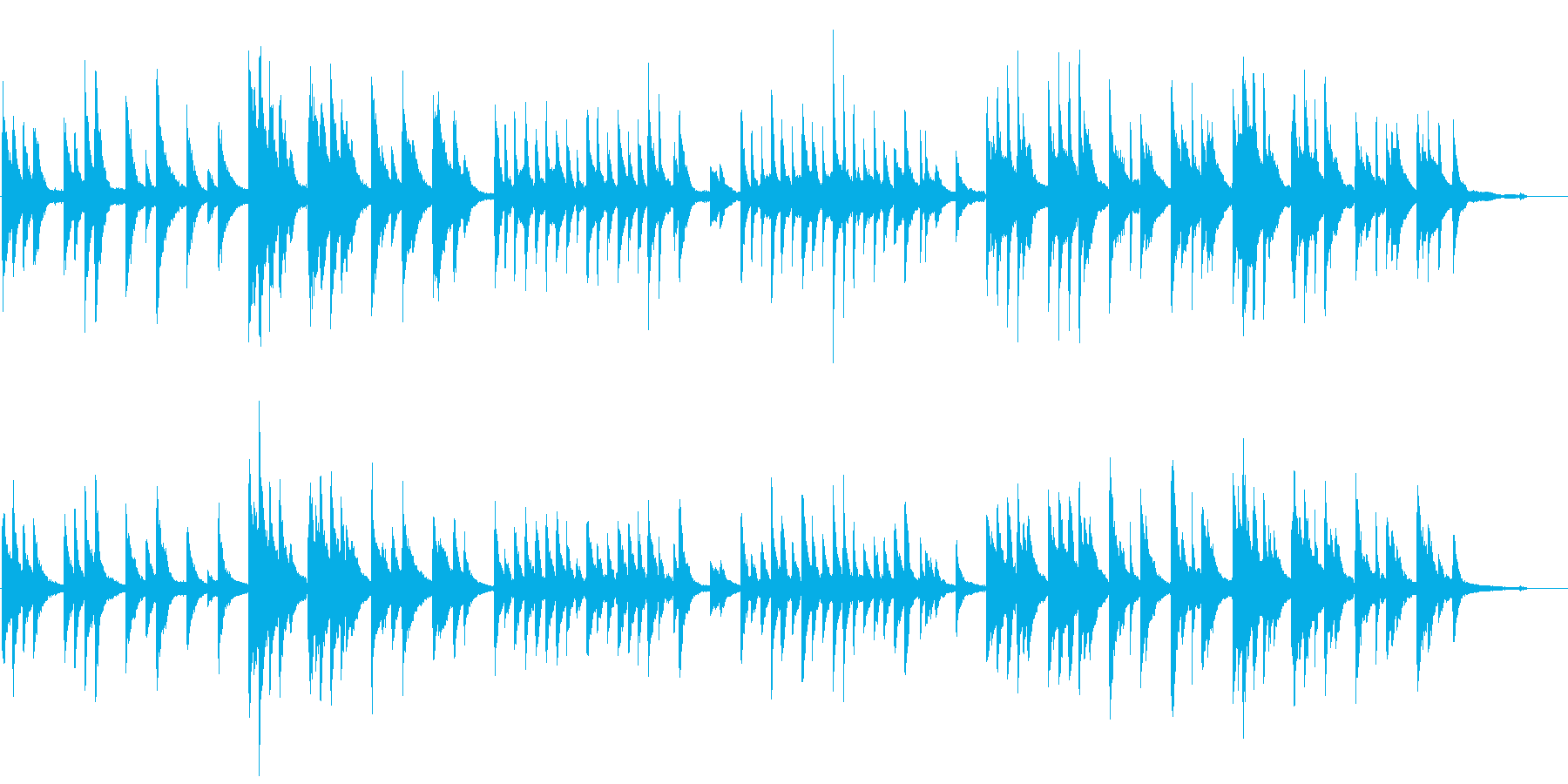 ピアノの優しい曲06の再生済みの波形