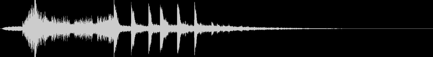 キャッチーなエレクトロサウンドロゴの未再生の波形