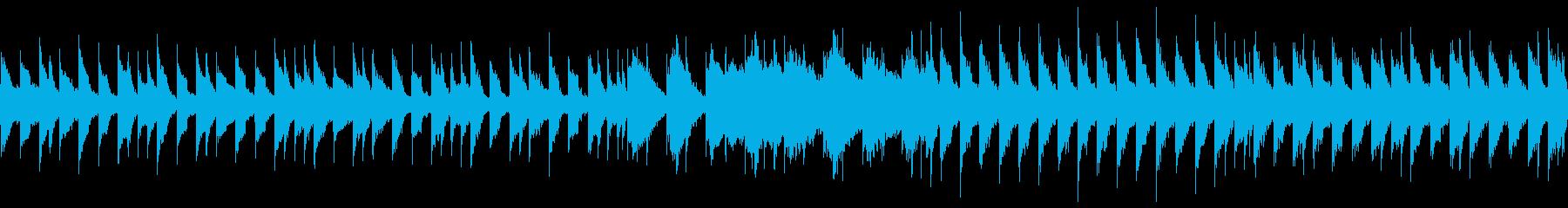 暗い雰囲気のチップチューンサウンドの再生済みの波形